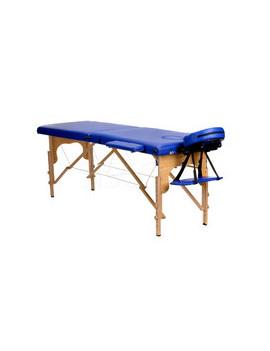 Stół, łóżko do masażu 2 segmentowe Niebieskie