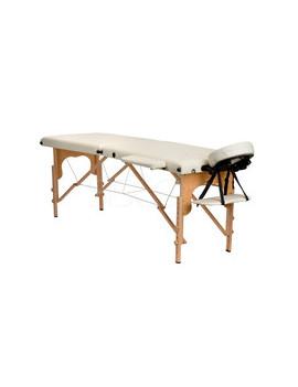 Stół, łóżko do masażu 2 segmentowe Beżowe