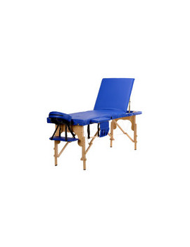 Stół, łóżko do masażu 3 segmentowe niebieskie + dodatki + torba gratis