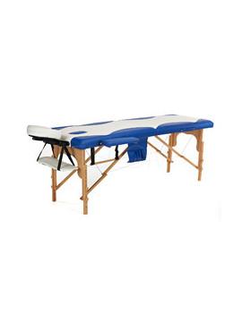 Łóżko do masażu 2 segmentowe dwukolorowe biało - niebieskie