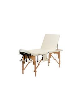Stół, łóżko do masażu 3 segmentowe beżowe + dodatki + torba gratis