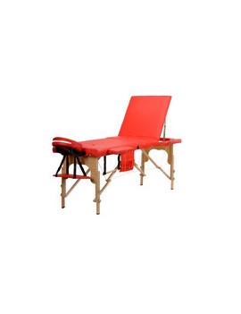 Stół, łóżko do masażu czerwone 3 segmentowe + dodatki + torba gratis