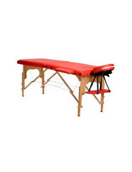 Stół, łóżko do masażu 2 segmentowe Czerwone