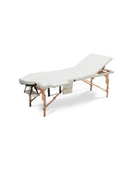 Łóżko do masażu 3 segmentowe beżowe XXL