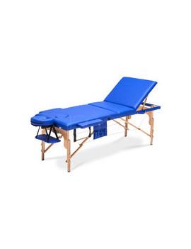 Łóżko do masażu 3 segmentowe niebieskie XXL