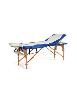 Łóżko do masażu 3 segmentowe dwukolorowe biało - niebieskie