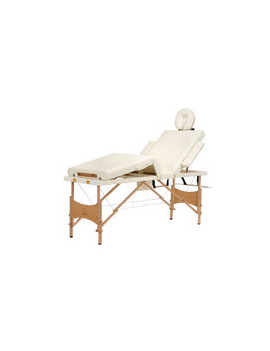 Stół, łóżko do masażu 4 segmentowe beżowe