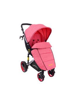 Wózek spacerówka SUMMER BABY model DYNAMIC duże koła CZERWONA